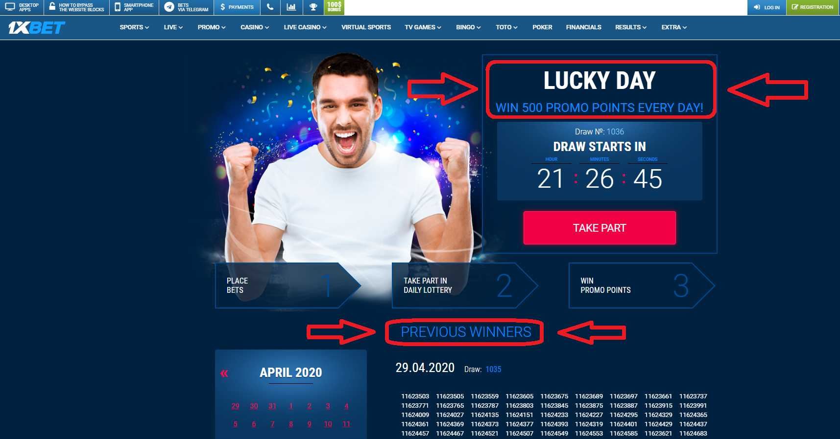 Lucky Friday 1xBet information
